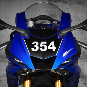 Motorcycle Vinyl Number Stickers