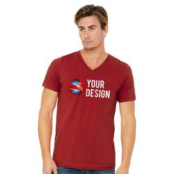 SS V-Neck Red Front