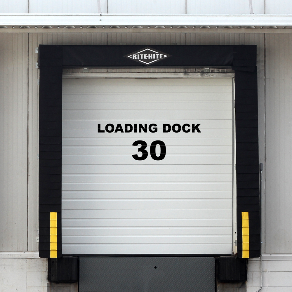 Loading Dock Vinyl Lettering Stickers