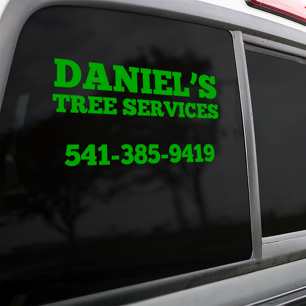 Tree Services Vinyl Lettering Stickers
