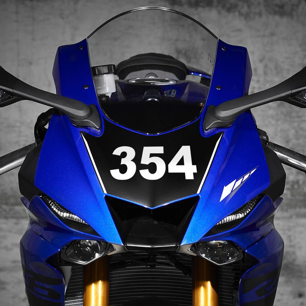 Motorcycle Vinyl Number Stickers
