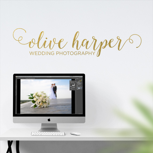 Custom Wedding Photographer Wall Decal