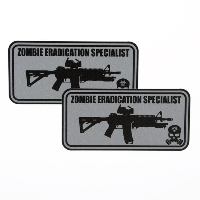 Zombie Eradication Specialist Rounded Rectangle Stickers