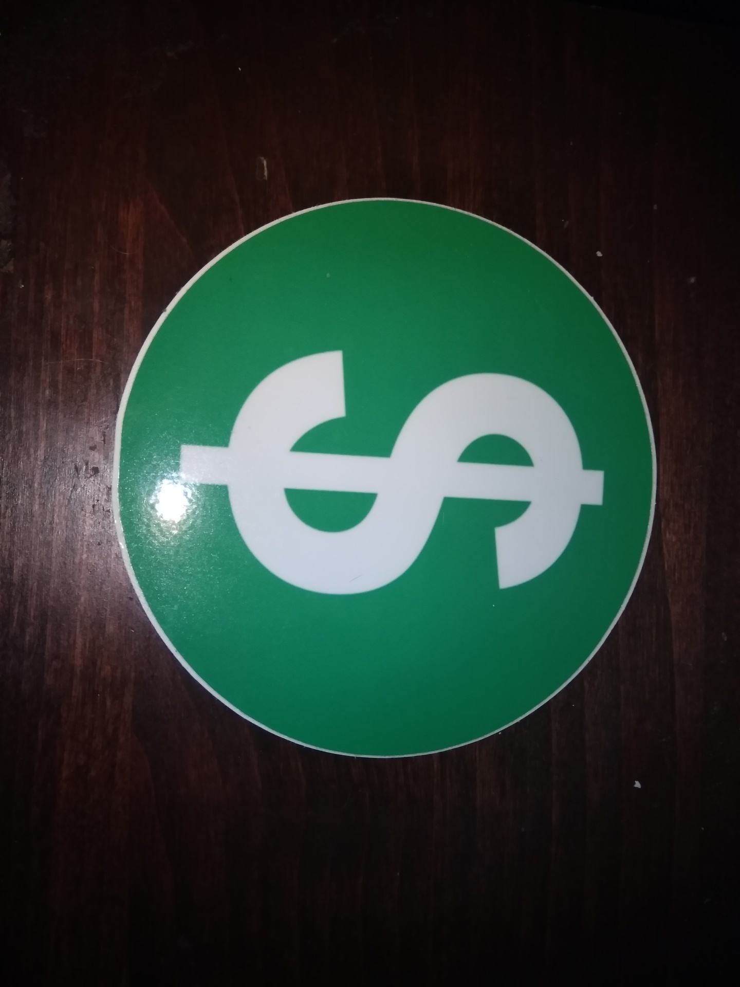 preston's photograph of their Circle Stickers