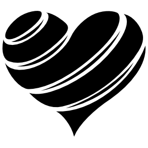 Striped Heart Wall Decal