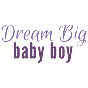 2-color Dream Big Baby Boy wall quote decal