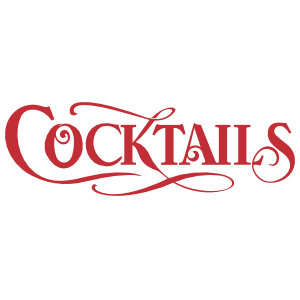 Cocktails Text Wall Decal