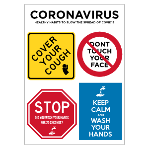 Coronavirus Healthy Habits Sticker Sheet