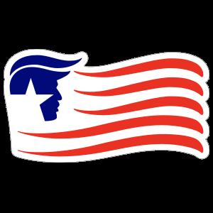 Donald Trump Wave Flag Sticker