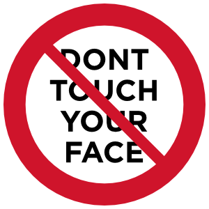 Don't Touch Your Face Sticker