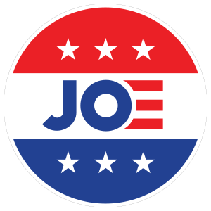 Joe Biden Stars and Stripes Circle Sticker