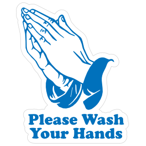 Please, Wash Your Hands Sticker