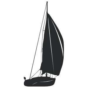 Sailboat Silhouette Wall Decal