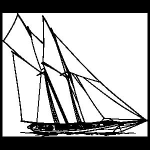 Schooner Silhouette Wall Decal