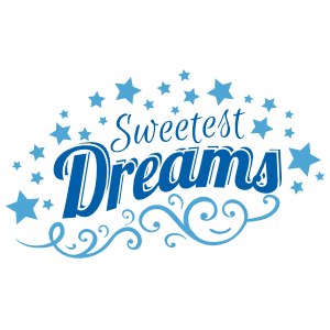 2-color Retro Sweetest Dreams wall quote decal deco border