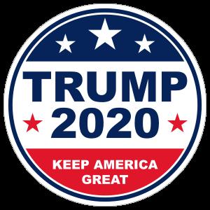 Trump 2020 Circle Sticker