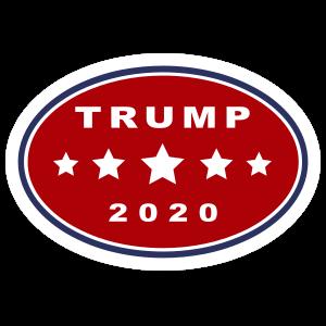 Trump 2020 Oval Sticker