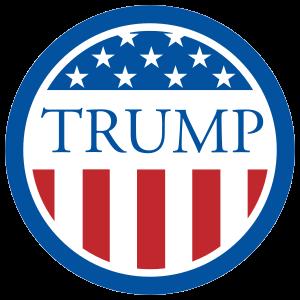 Trump Flag Circle Sticker