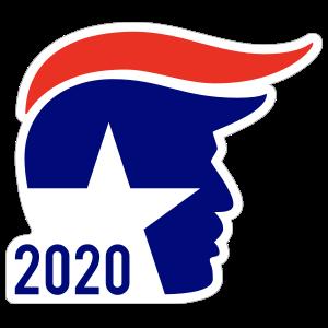 Trump Wave Hair Sticker