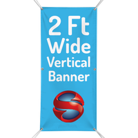 2 Ft. Custom Vertical Banner