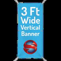 3 Ft. Custom Vertical Banner