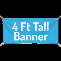 4 Ft. Custom Banner
