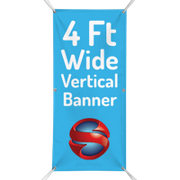 4 Ft. Custom Vertical Banner