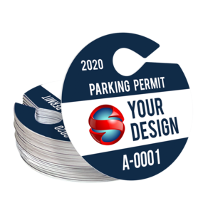 Circle Hang Tag Parking Permit