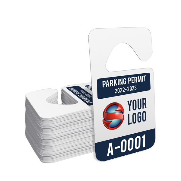 Custom Hang Tag Parking Permit