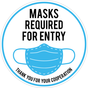 "Custom ""Mask Required"" Sticker"