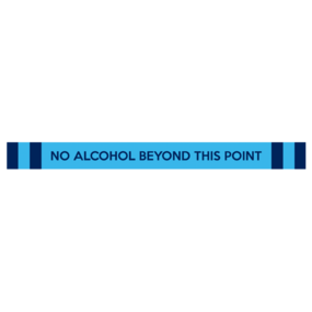 "Custom ""No Alcohol Beyond This Point"" Floor Stickers"