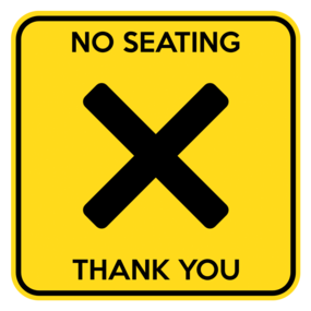 "Custom ""No Seating"" Table Sticker"