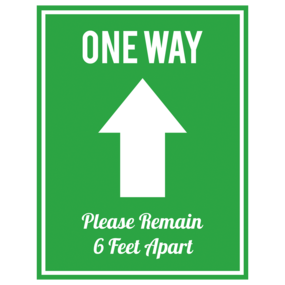 "Custom ""One Way - Enter"" Floor Sticker"