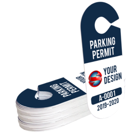 Oval Hang Tag Parking Permit