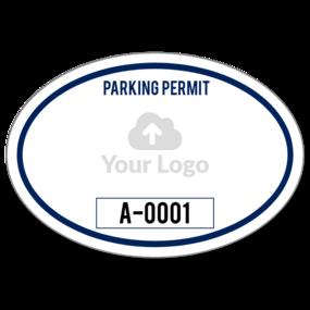 Custom Oval Parking Permit