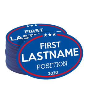 Custom Oval Campaign Stickers