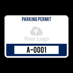 Custom Rectangle Parking Permit
