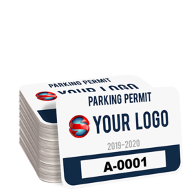 Custom Rectangle Parking Permit