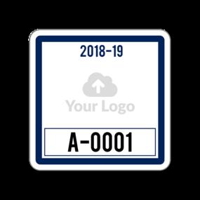 Custom Square Parking Permit