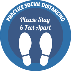 "Custom ""Social Distancing"" Floor Stickers"