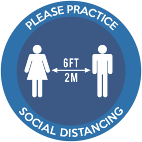 "Custom ""Practice Social Distancing"" Floor Stickers"