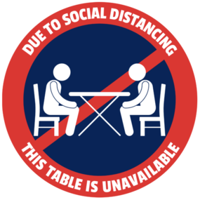 "Custom ""Table Unavailable"" Table Sticker"