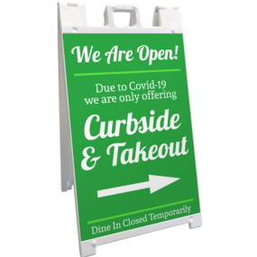 Custom Take Out Large A-Frame Sign