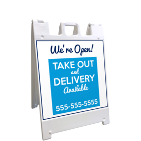 Custom Take Out A-Frame Sign