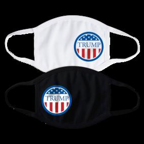 Trump Flag Circle Face Mask