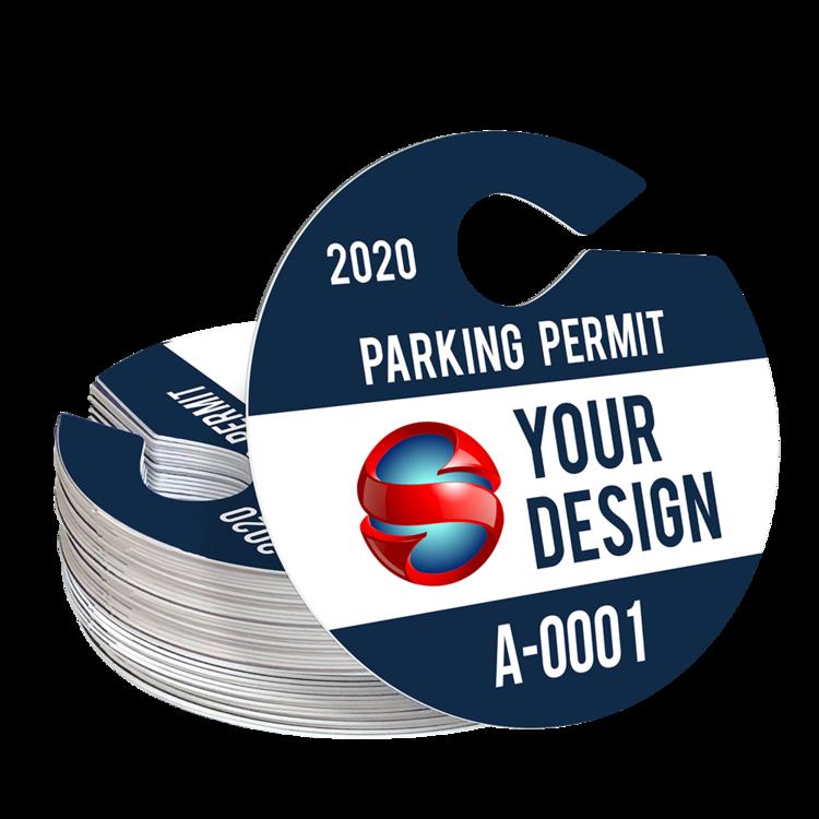 Circle Hang Tag Parking Permit