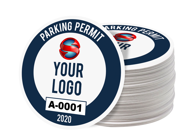 Custom Circle Parking Permit