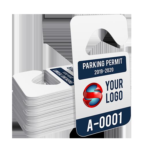 Custom Hang Tag Parking Permit