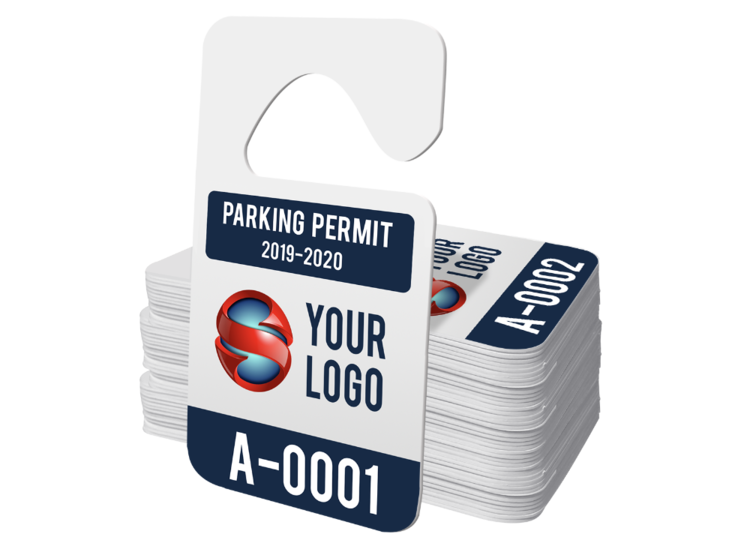 Standard Hang Tag Parking Permit