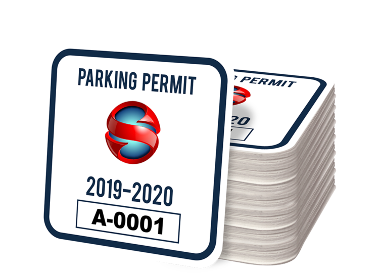 Custom Square Parking Permit